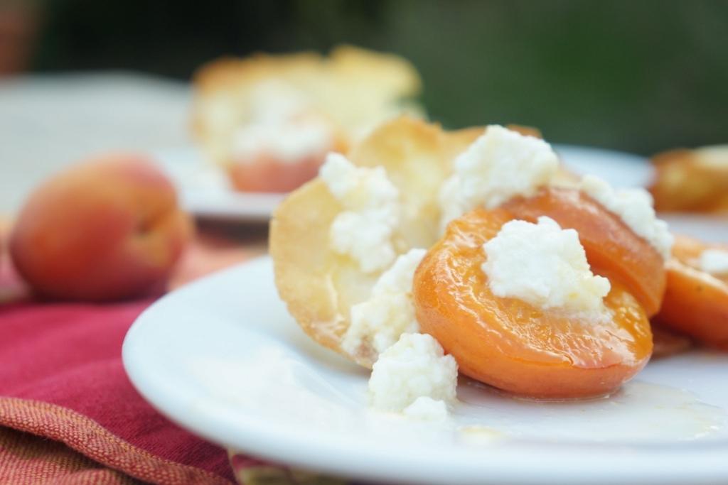 abricots rotis brocciu toque et tablier