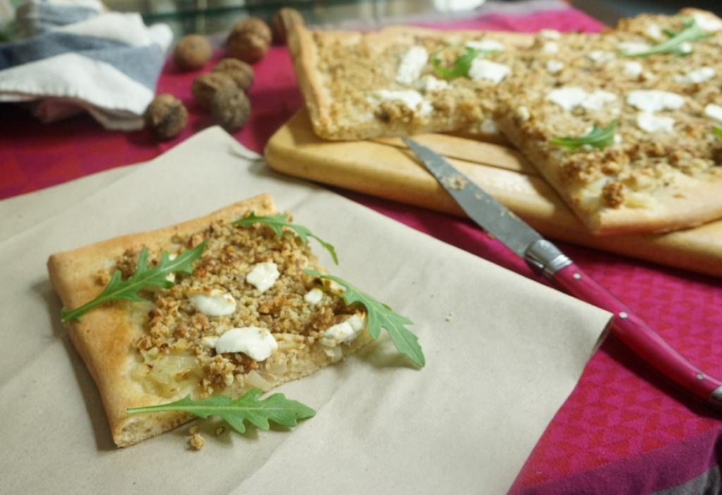 pizza aux noix toque et tablier