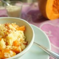 risotto au potiron et lard croustillant toque et tablier