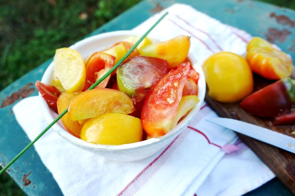 salade de tomate toque et tablier