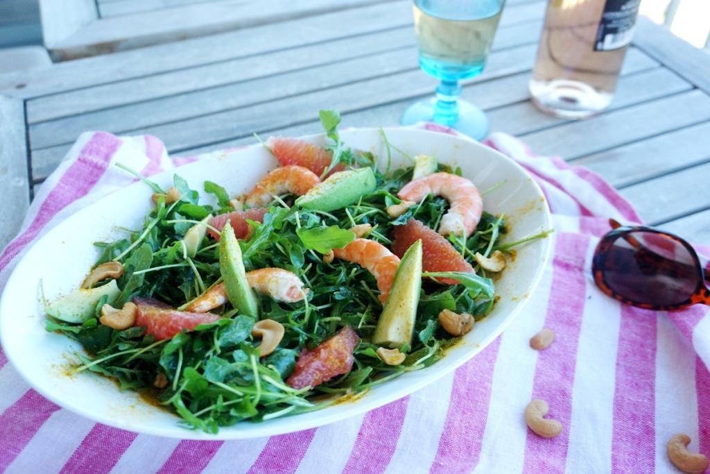 salade fraicheur pamplemousse avocat toque et tablier