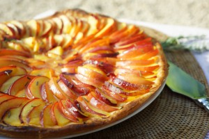 tarte nectarines romarin toque et tablier