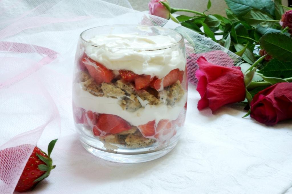 verrine fraises mascarpone toque et tablier