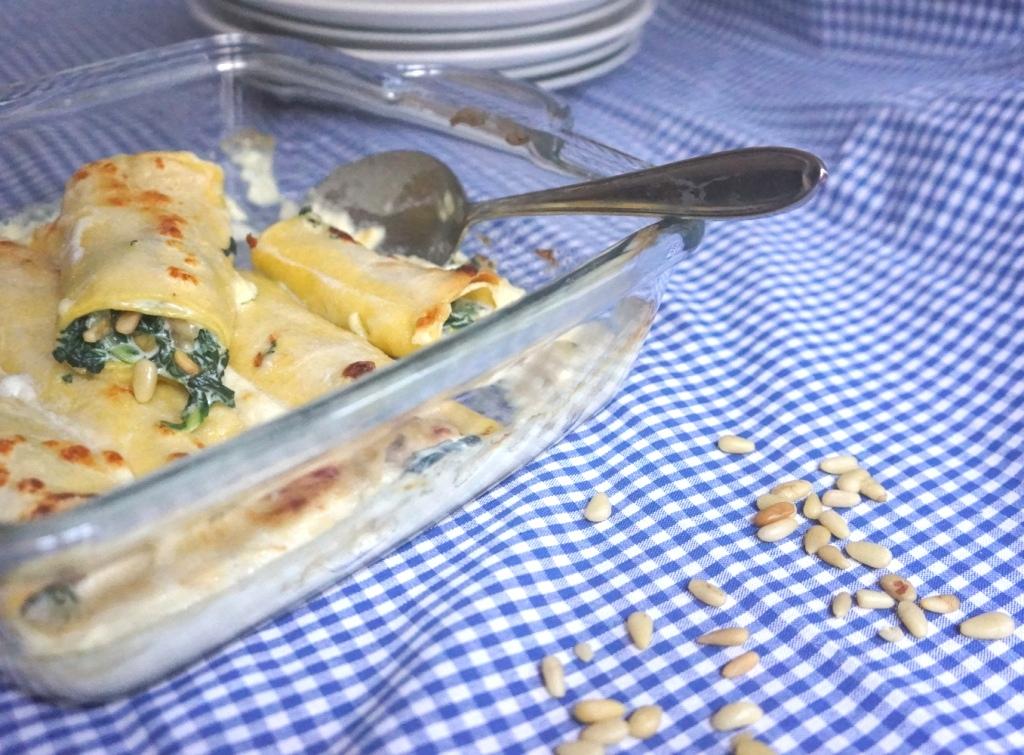 cannellonis aux blettes et pignons de pin toque et tablier