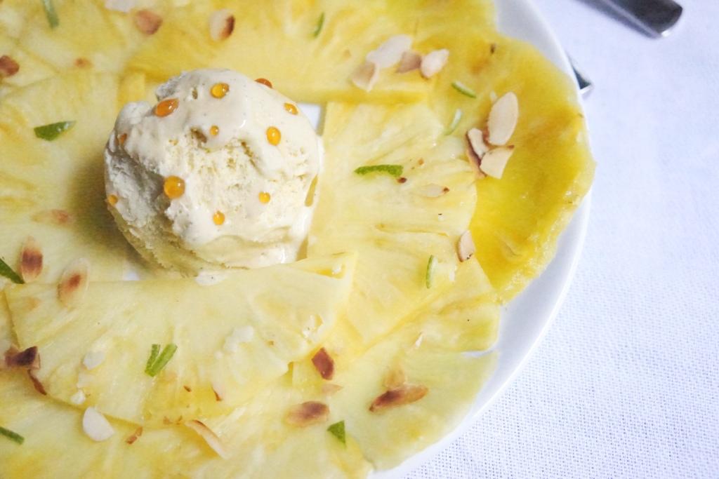 dessert noel leger carpaccio ananas