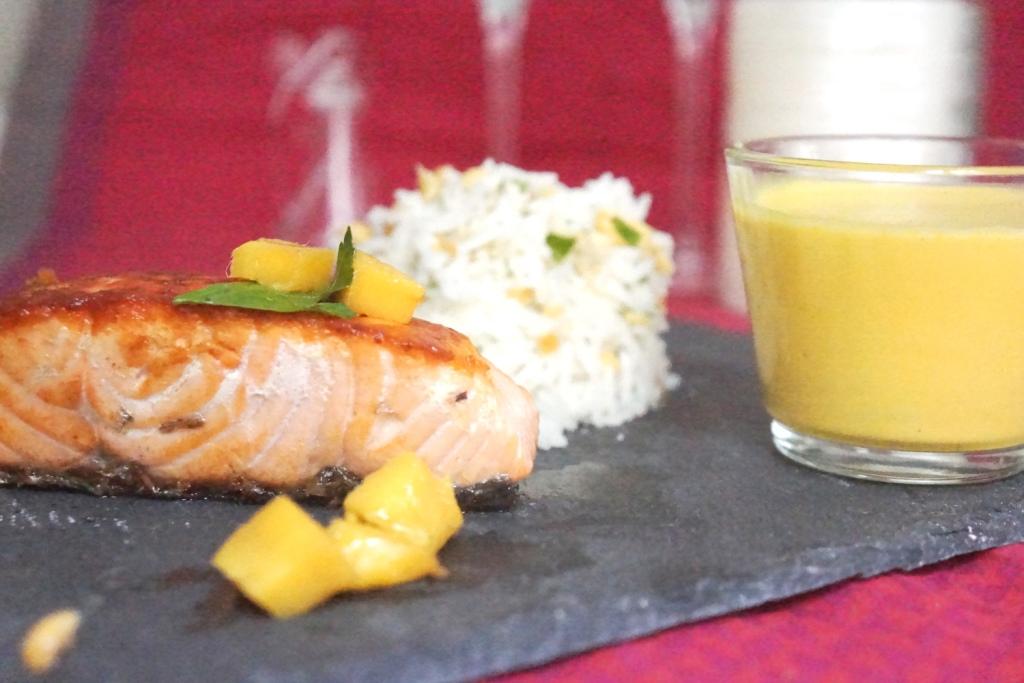 recette saumon sauce foie gras toque & tablier