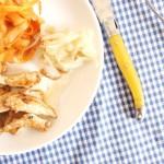 aiguillettes poulet tagliatelles carottes toque et tablier