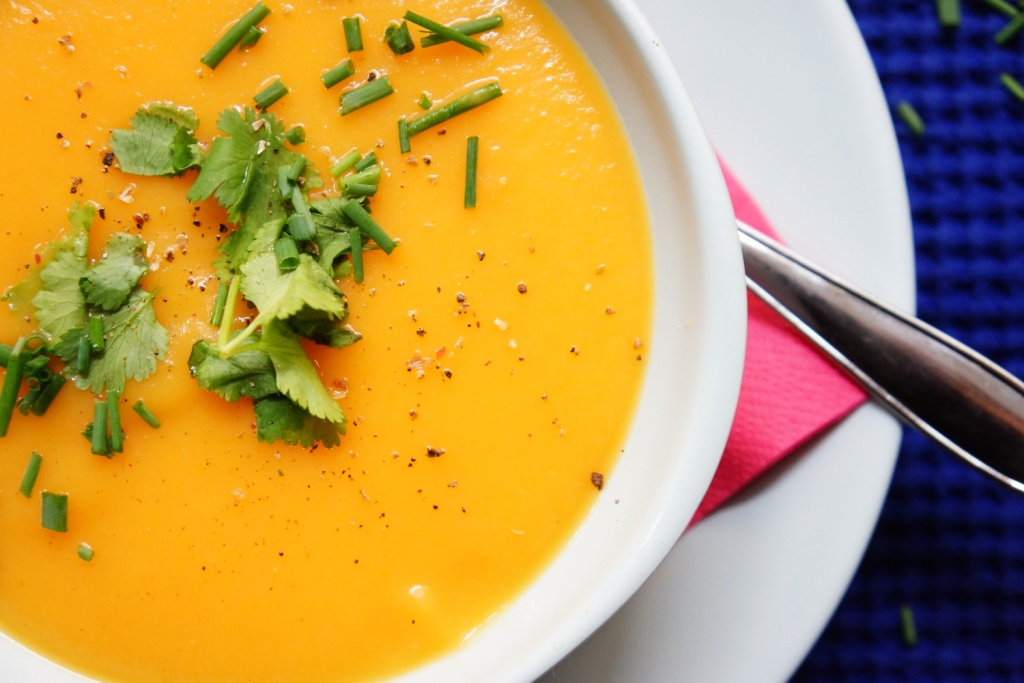 veloute carottes herbes fraiches