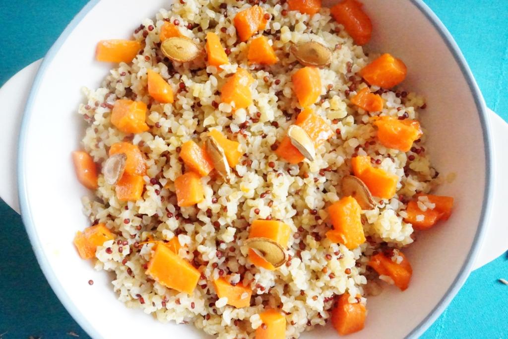 risotto de quinoa et boulghour au potiron rôti et cumin toque et tablier (2)