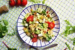 Méli-mélo de salade au boulgour