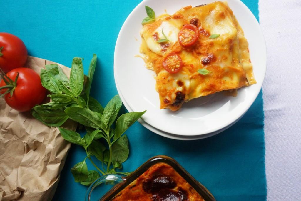 lasagnes matriciana toque et tablier