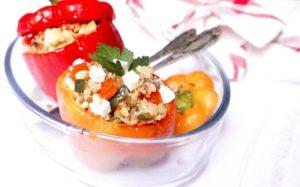 poivrons farcis quinoa legumes toque et tablier