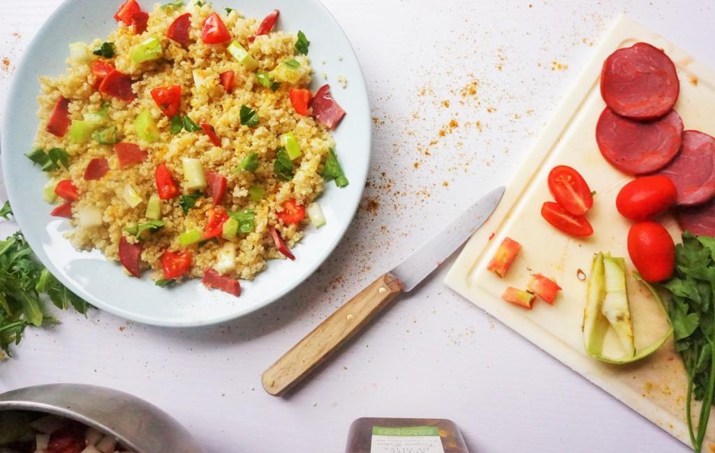 salade boulgour quinoa toque et tablier