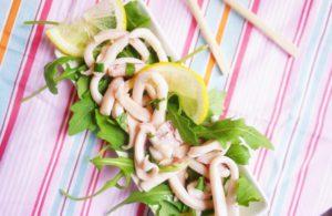 Salade de calamar au basilic