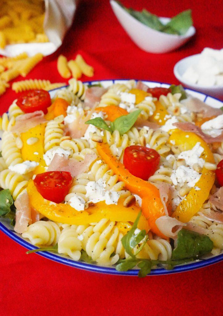 salade pâtes poivrons grillés toque et tablier (2)