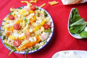 salade pâtes poivrons grillés toque et tablier