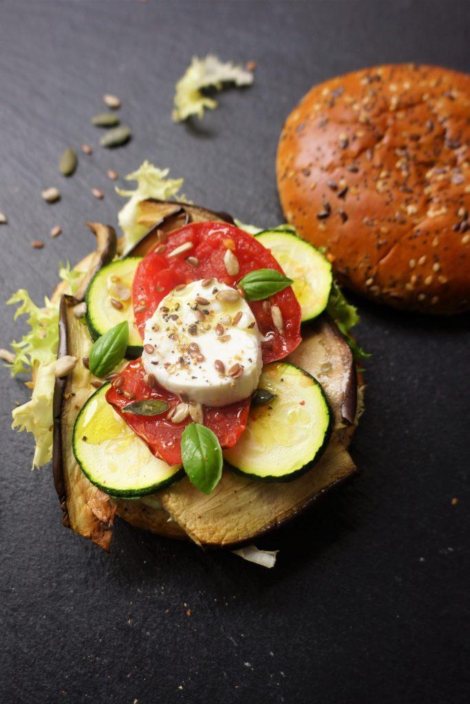 burger légumes toque et tablier